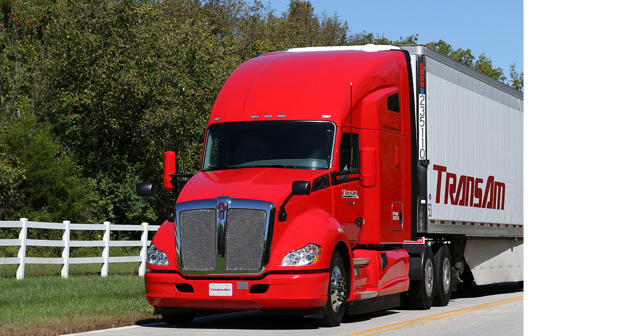 Refrigerated Freight Carrier TransAm Trucking Values T680 Reliability, Kenworth Dealer Network