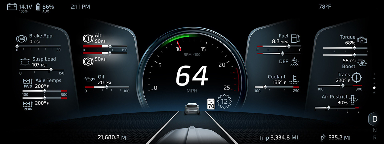 Kenworth T680 Next Generation Rolls Out Innovative Full Digital Display