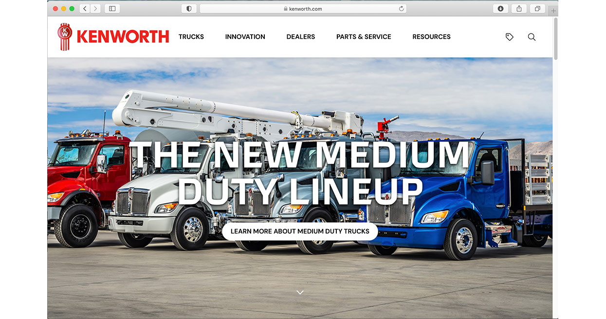 Kenworth Introduces Innovative, User-Friendly New Website, Featuring The World's Best Trucks
