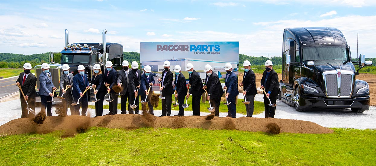PACCAR Parts Breaks Ground On New Parts Distribution Center